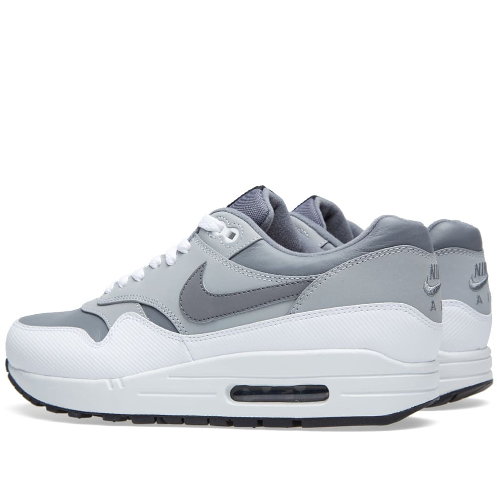 fd234f9120 Nike Air Max 1 Leather Cool Grey & Wolf Grey | END.