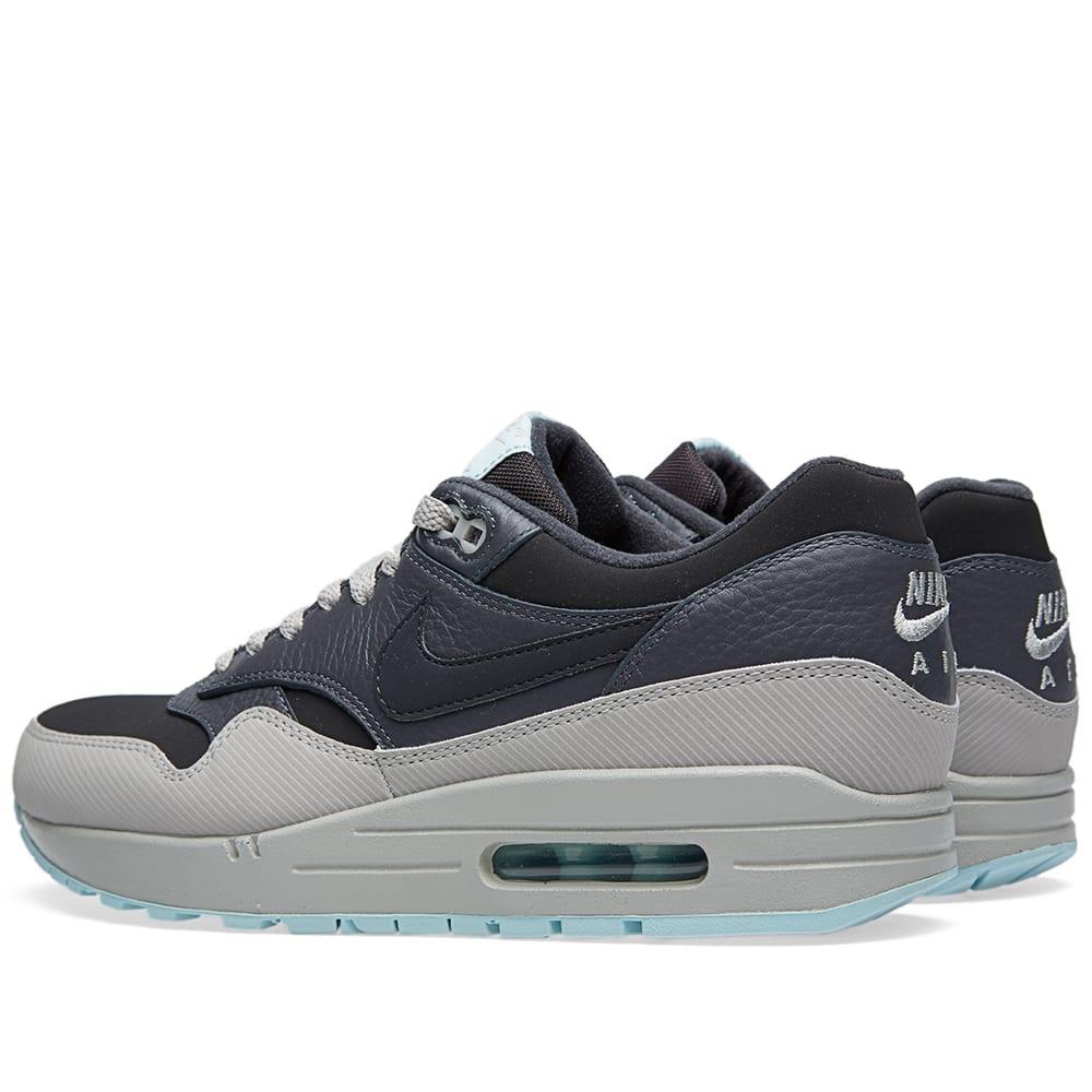 buy online f8fba 3fdb8 Nike Air Max 1 Leather Dark Ash   Dark Grey   END.