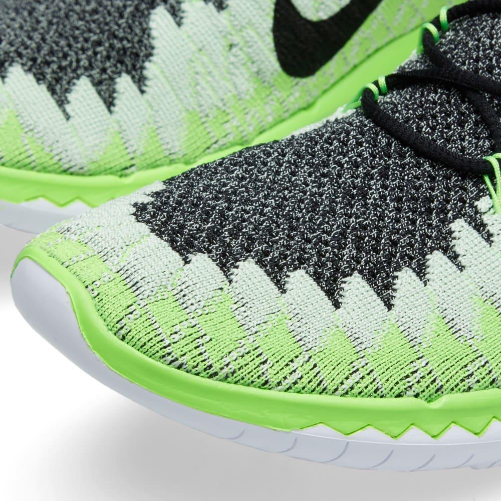 best website 0cc2b 555d7 Nike Free 3.0 Flyknit Black   Electric Green   END.