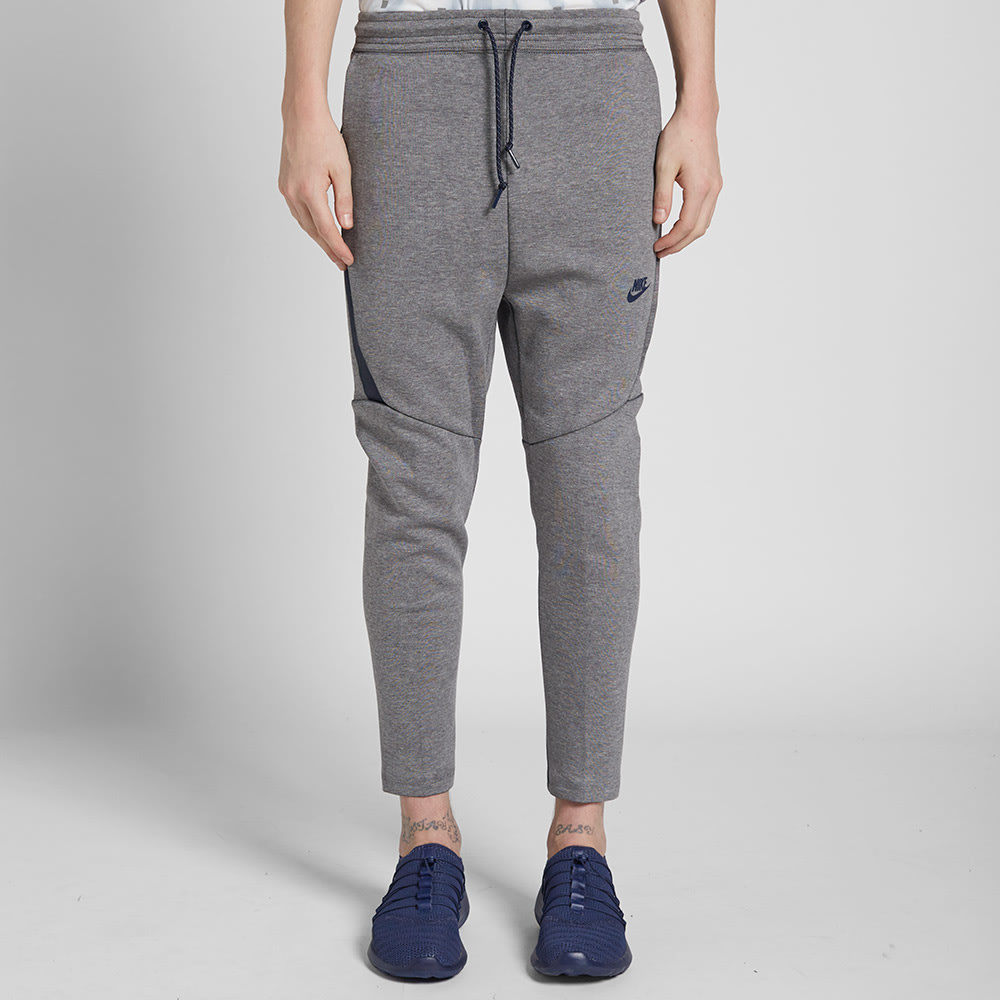 nike tech fleece cropped pant carbon heather obsidian. Black Bedroom Furniture Sets. Home Design Ideas