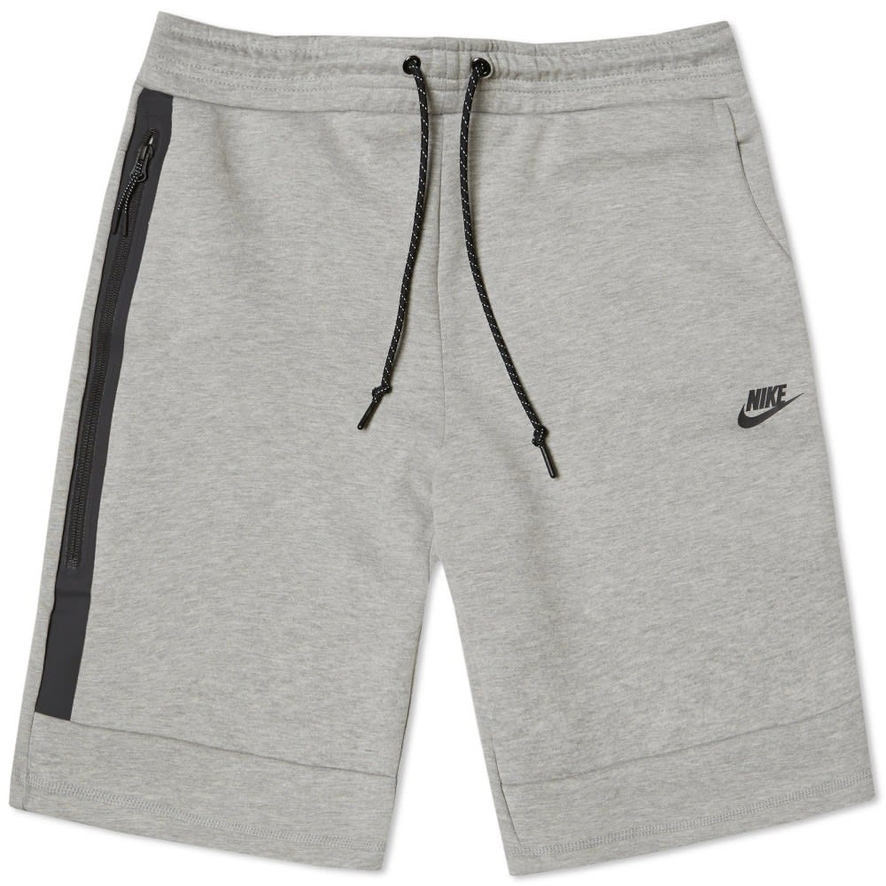 nike tech fleece short dark grey heather black. Black Bedroom Furniture Sets. Home Design Ideas