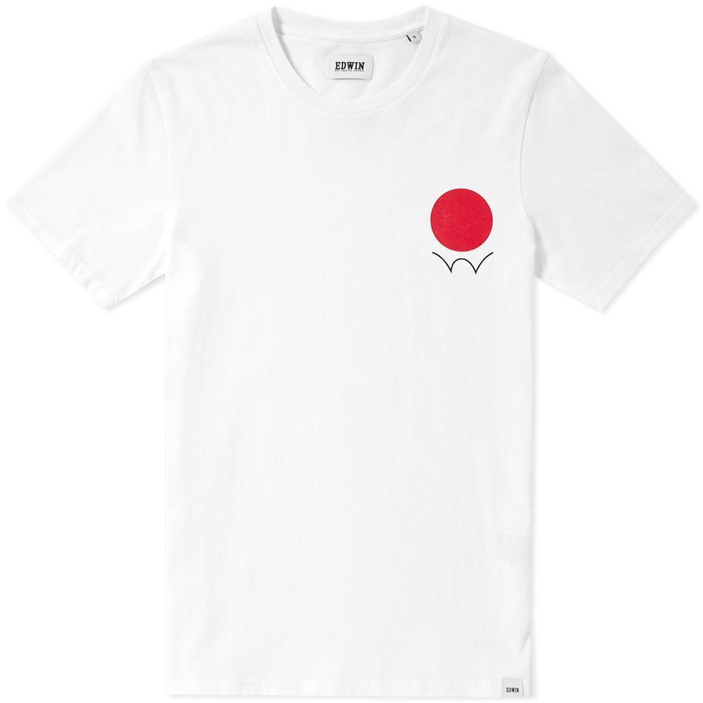d194b251 Edwin Red Dot Logo Tee White | END.