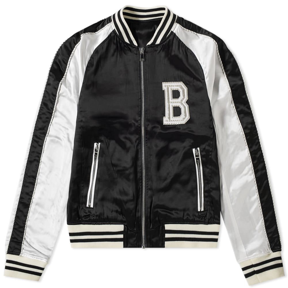 Balmain Logo Embroidered Varsity Jacket by Balmain