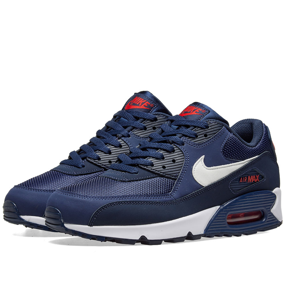 purchase cheap 14a83 fac0f Nike Air Max 90 Essential Midnight Navy, White   Red   END.