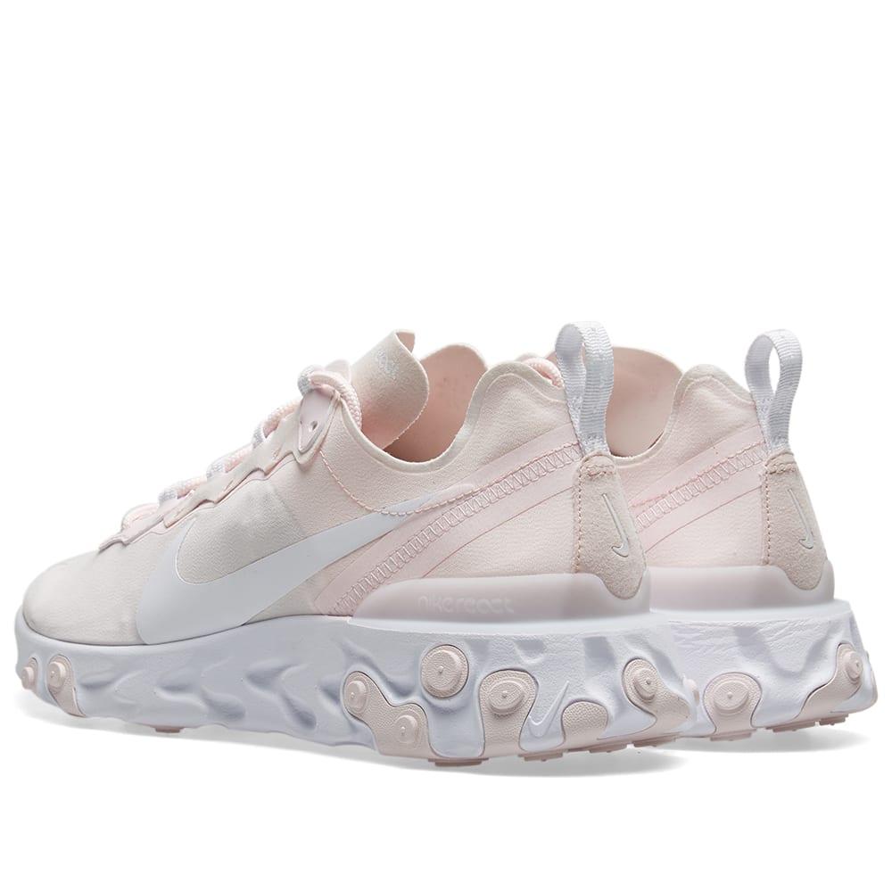 122190cdf Nike React Element 55 W Pale Pink   White