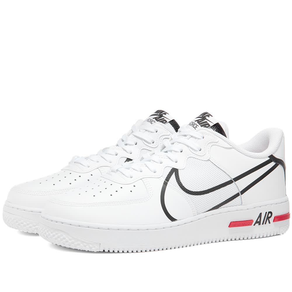 Consulta Carrera Ser amado  Nike Air Force 1 React White, Black & Red | END.
