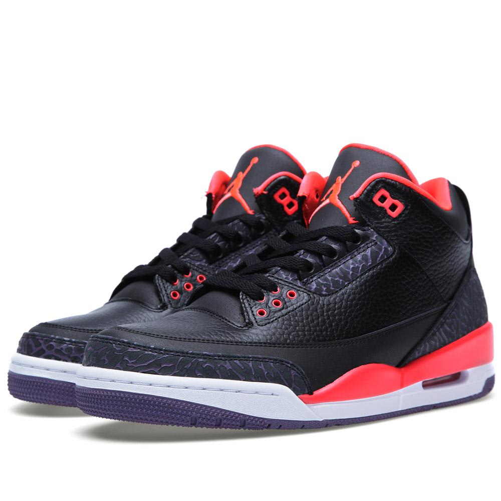06f6bbd67eedf2 Nike Air Jordan III Retro Black   Bright Crimson