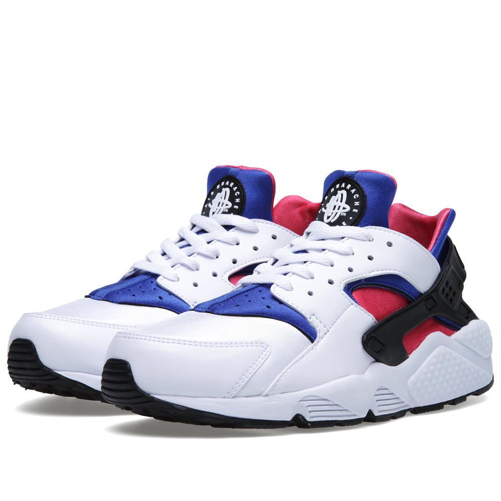 online retailer 30f62 0d9a7 Nike Air Huarache White, Game Royal   Dynamic Pi   END.