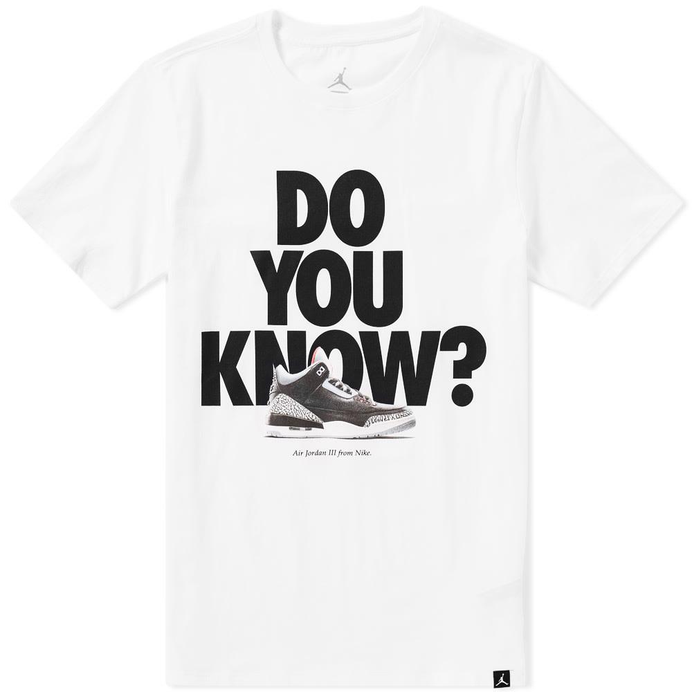 2612dcf275d1 Jordan AJ 3 Do You Know Tee White   Black