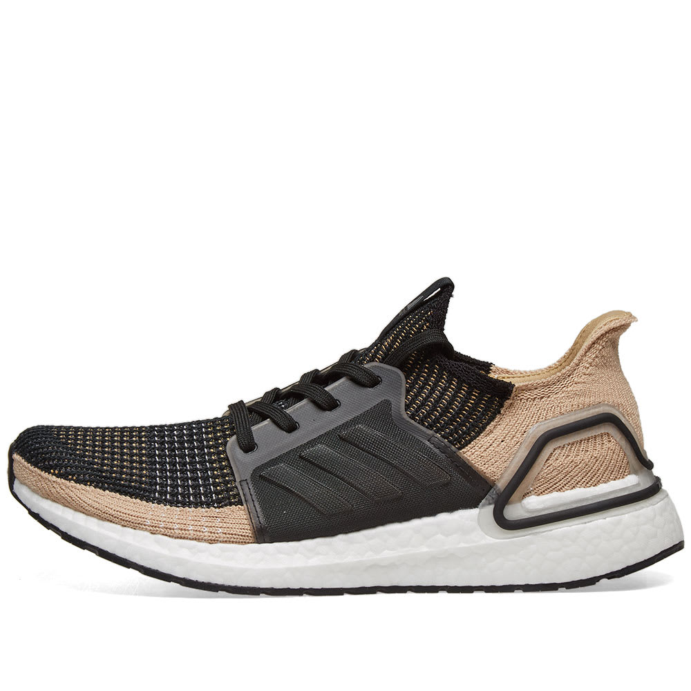 online store e07eb 677f6 Adidas Ultra Boost 19 Core Black, Raw Sand   Grey   END.