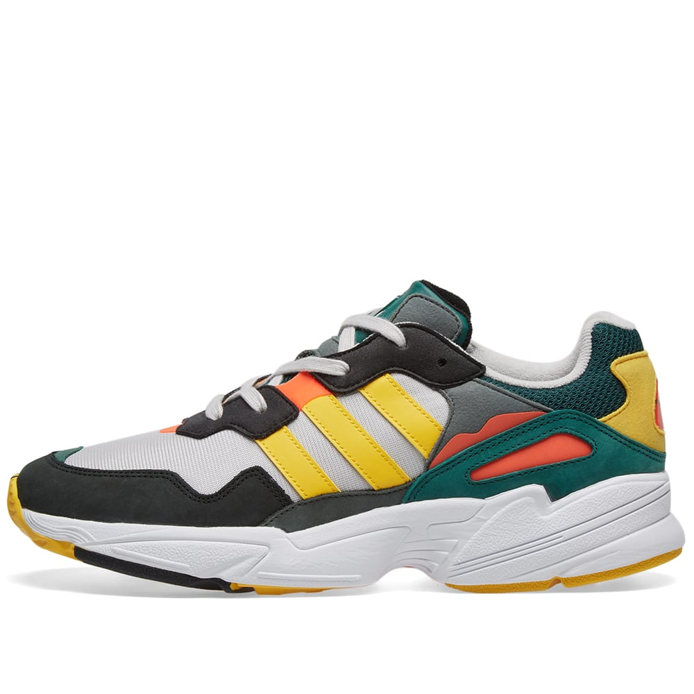 separation shoes a1a91 affe0 Adidas Yung 96 Grey, Bold Gold   Solar Red   END.
