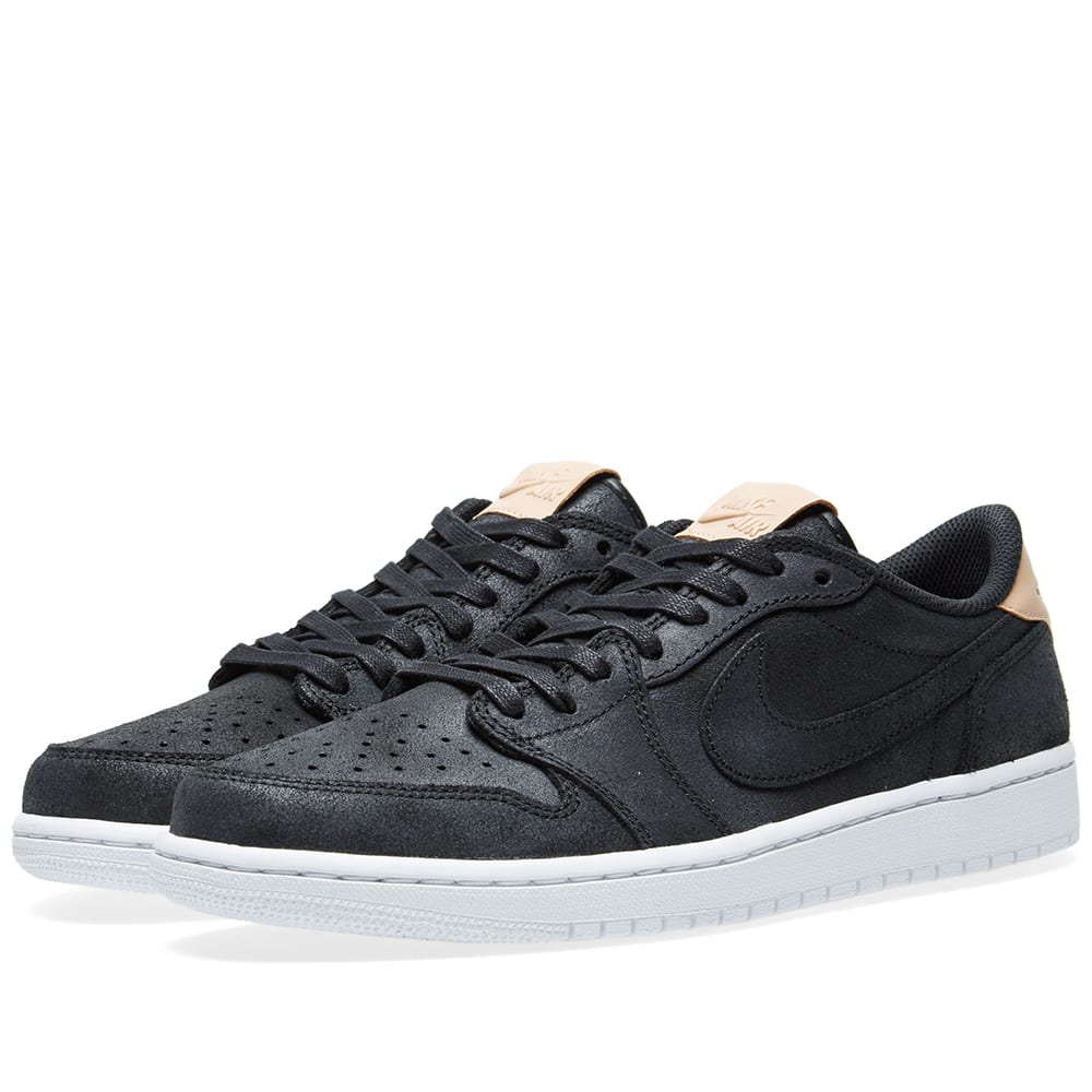cheaper ac89a 7833f Nike Air Jordan 1 Retro Low OG Premium Black & Vachetta Tan | END.