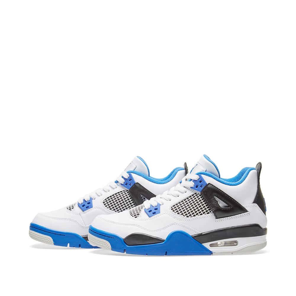 online store 09072 84e19 Nike Air Jordan 4 Retro GS  Motorsport  White, Game Royal   Black   END.