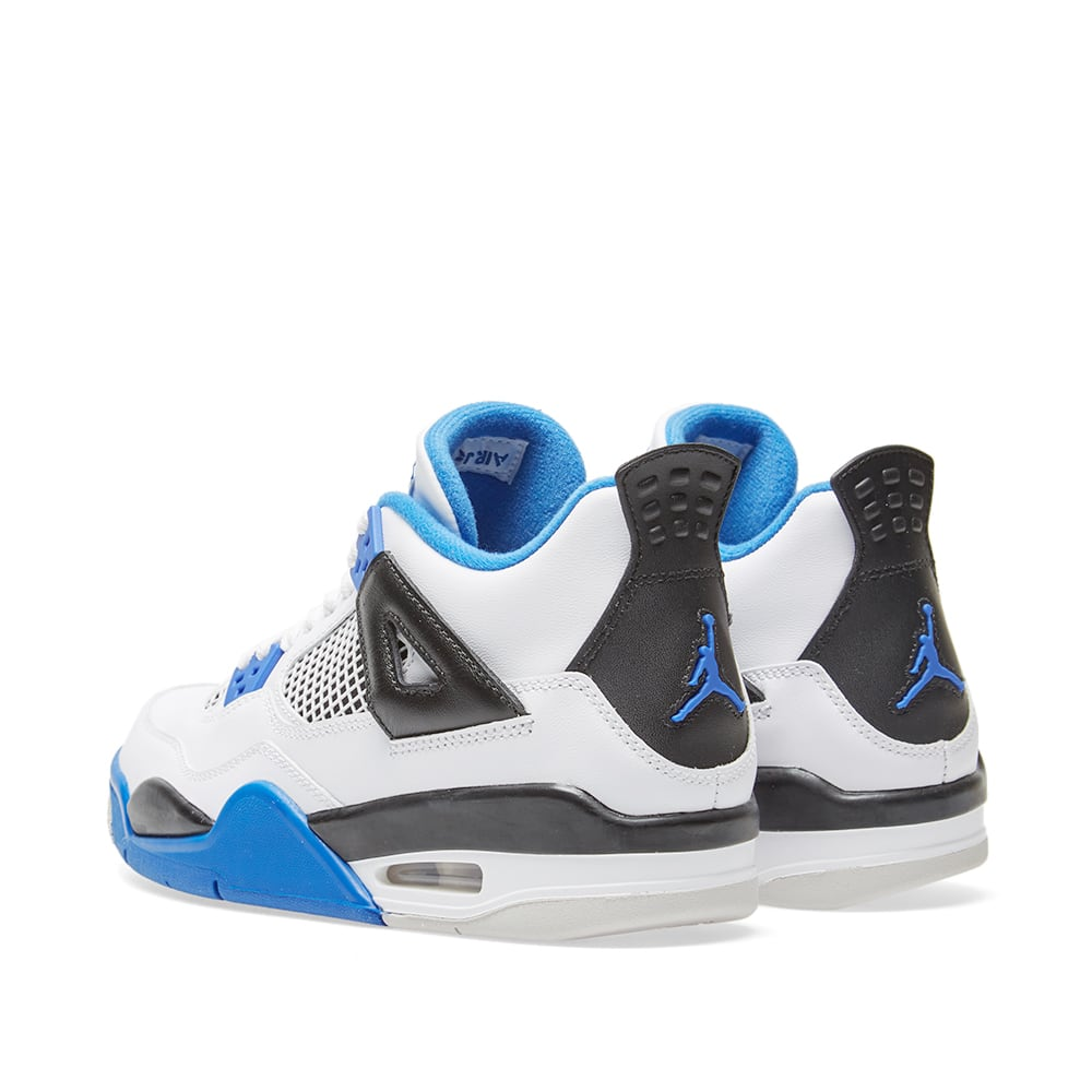 online store 5aa06 14e05 Nike Air Jordan 4 Retro GS  Motorsport  White, Game Royal   Black   END.