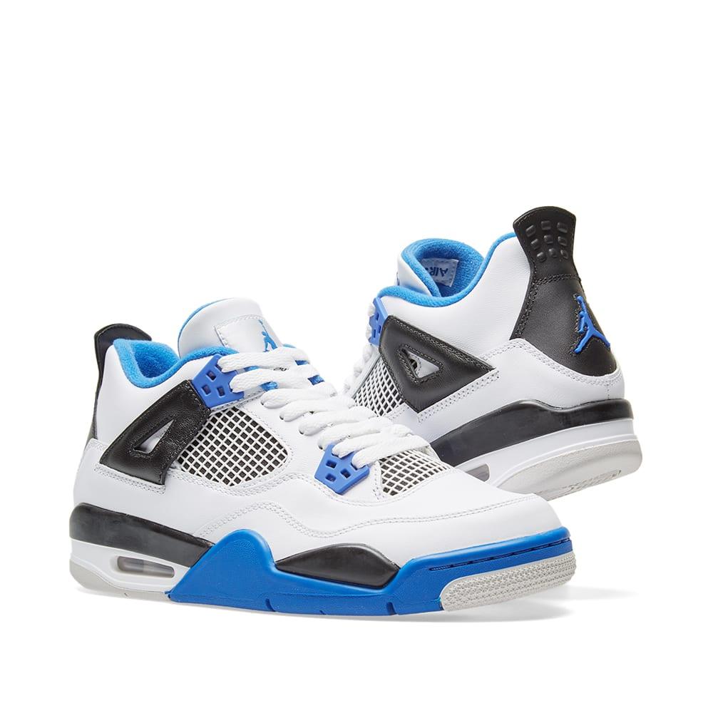 Nike Air Jordan 4 Retro GS 'Motorsport' White, Game Royal ...
