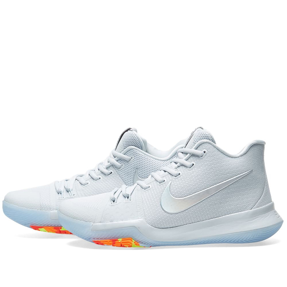 ade9949ab07 Nike Kyrie 3  Time to Shine  Pure Platinum