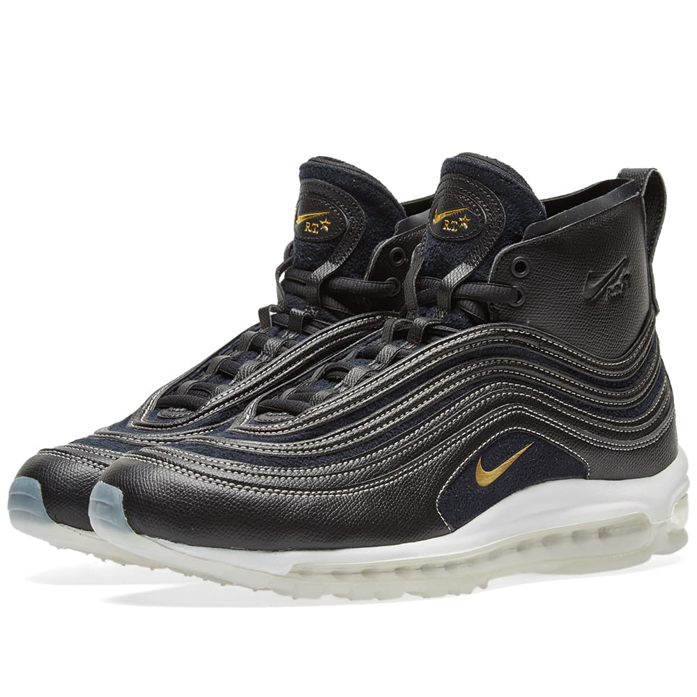 hot sales 6a522 7d8c4 Nike x Riccardo Tisci Air Max 97 Mid Black   Metallic Gold   END.
