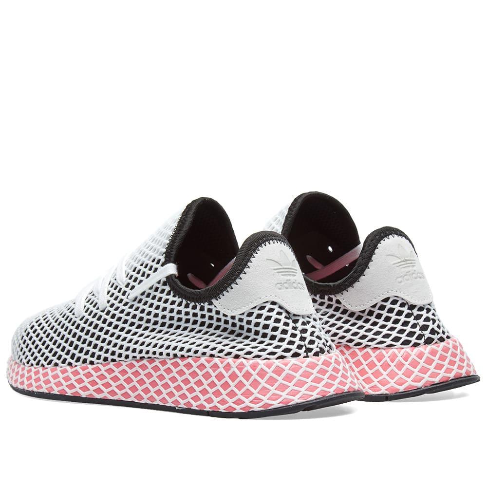 5eae8a0813661 Adidas Deerupt Runner W Black   Chalk Pink