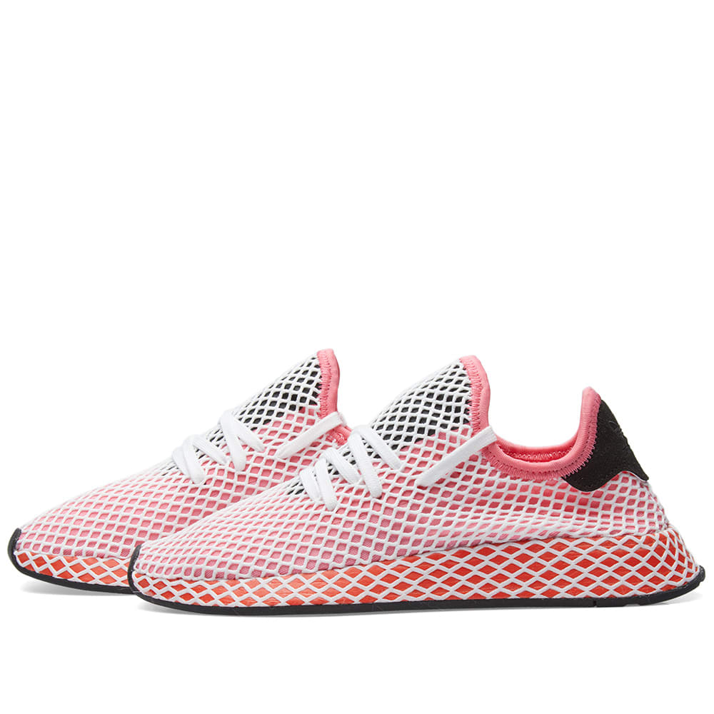67437465658d5 Adidas Deerupt Runner W Chalk Pink   Bold Orange
