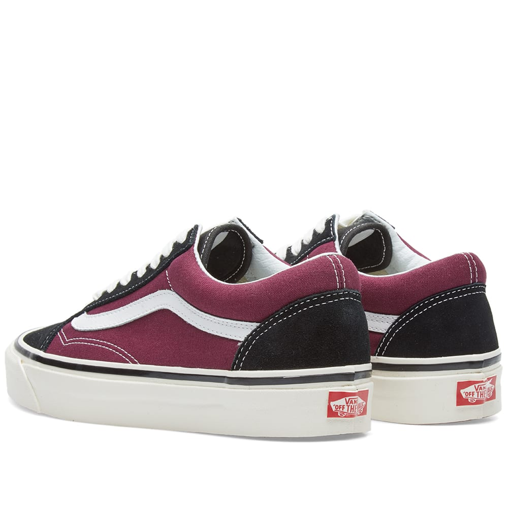 fe82cda598 Vans Old Skool 36 DX Black   OG Burgundy