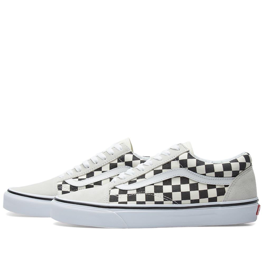 181ac43997 Vans Old Skool Checkerboard Black   White