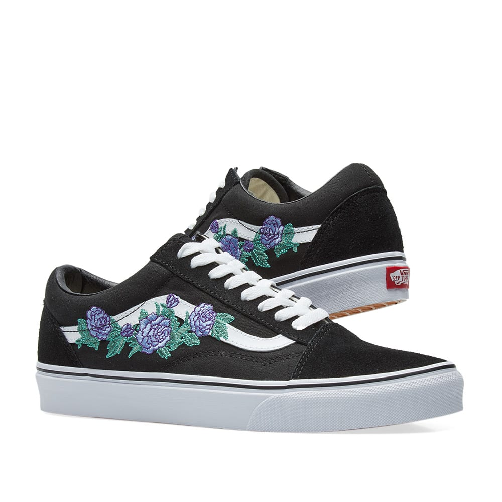 35f32a6556 Vans Old Skool Rose Thorns Lilac   True White