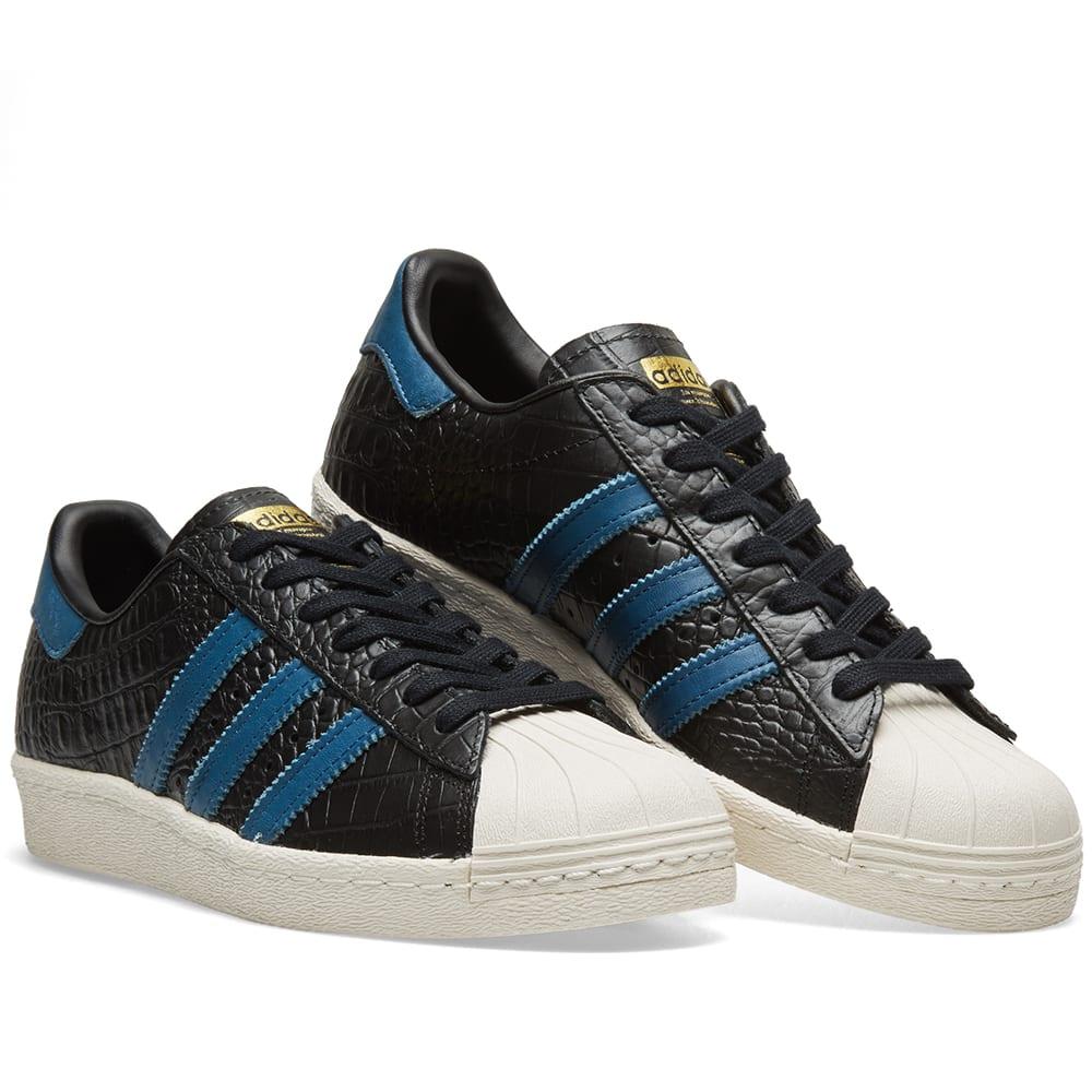 adidas superstar black and blue