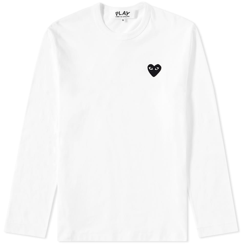 d98539a453a7 Comme des Garcons Play Long Sleeve Tee White & Black | END.