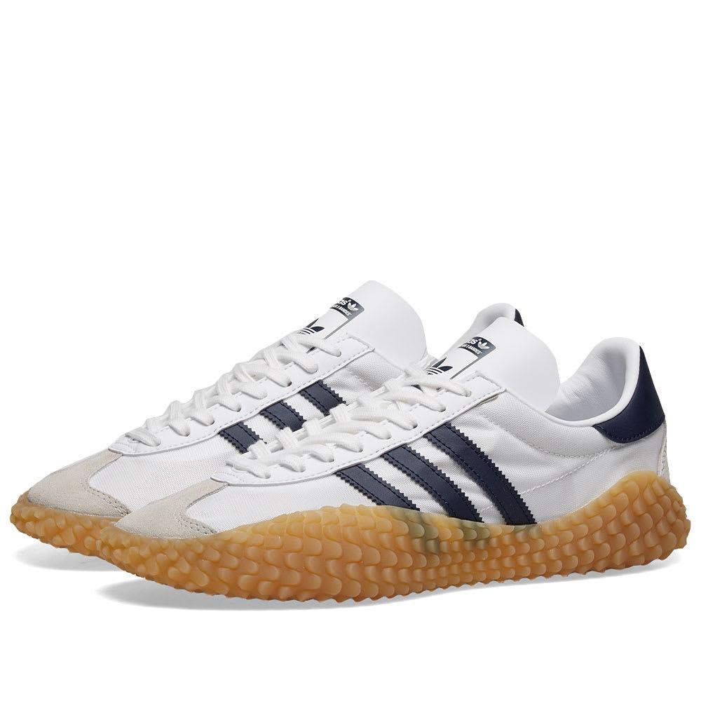 100% genuino calidad perfecta desigual en el rendimiento Adidas Country x Kamanda White, Navy & Gum | END.