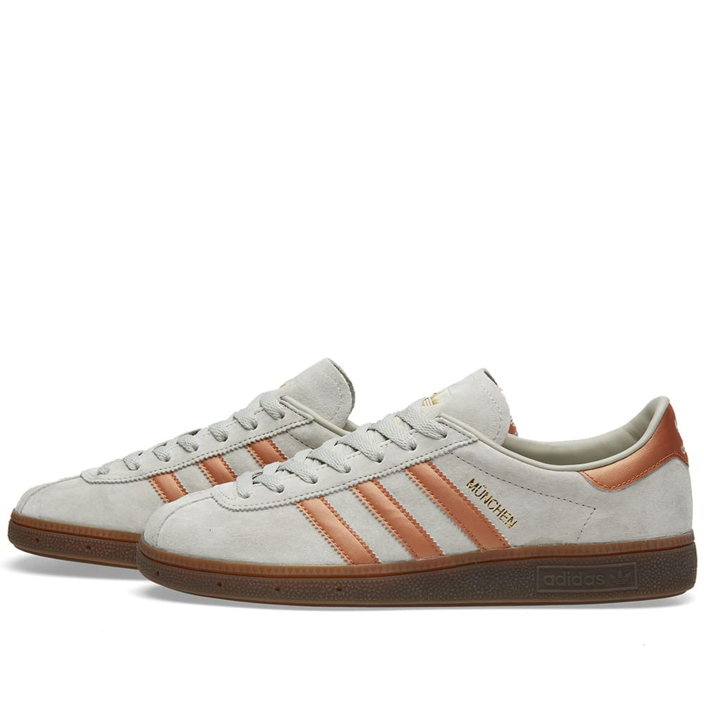best website cd334 ef2aa Adidas Munchen Sesame   Metallic Bronze   END.