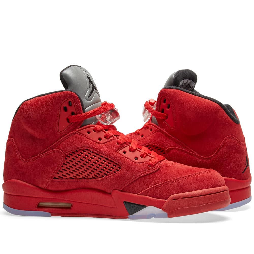 detailed pictures bae14 9102a Nike Air Jordan 5 Retro. University Red   Black