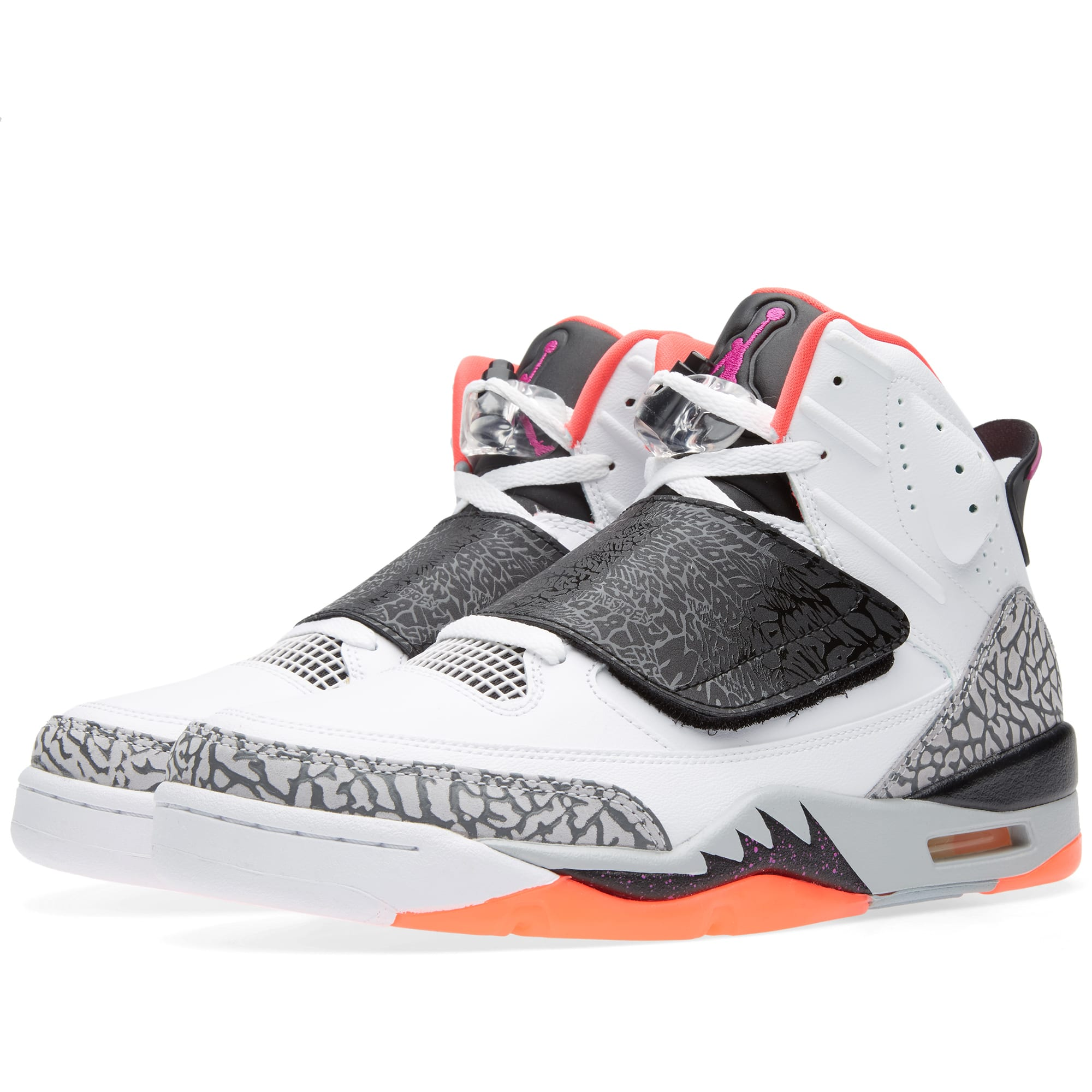 purchase cheap b73ce a4e38 Nike Air Jordan Son of Mars White, Fuchsia Flash   Black   END.