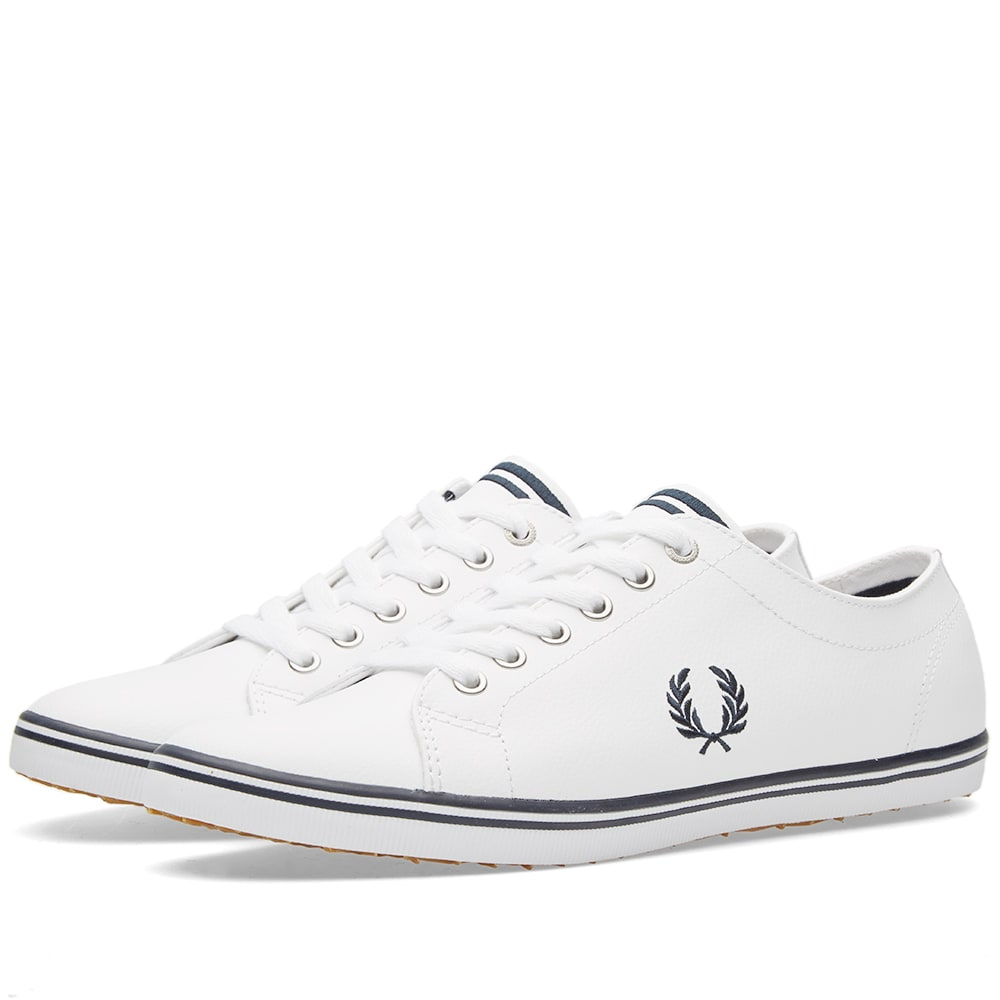 0d7e48963df0f Fred Perry Kingston Leather Sneaker White   Navy