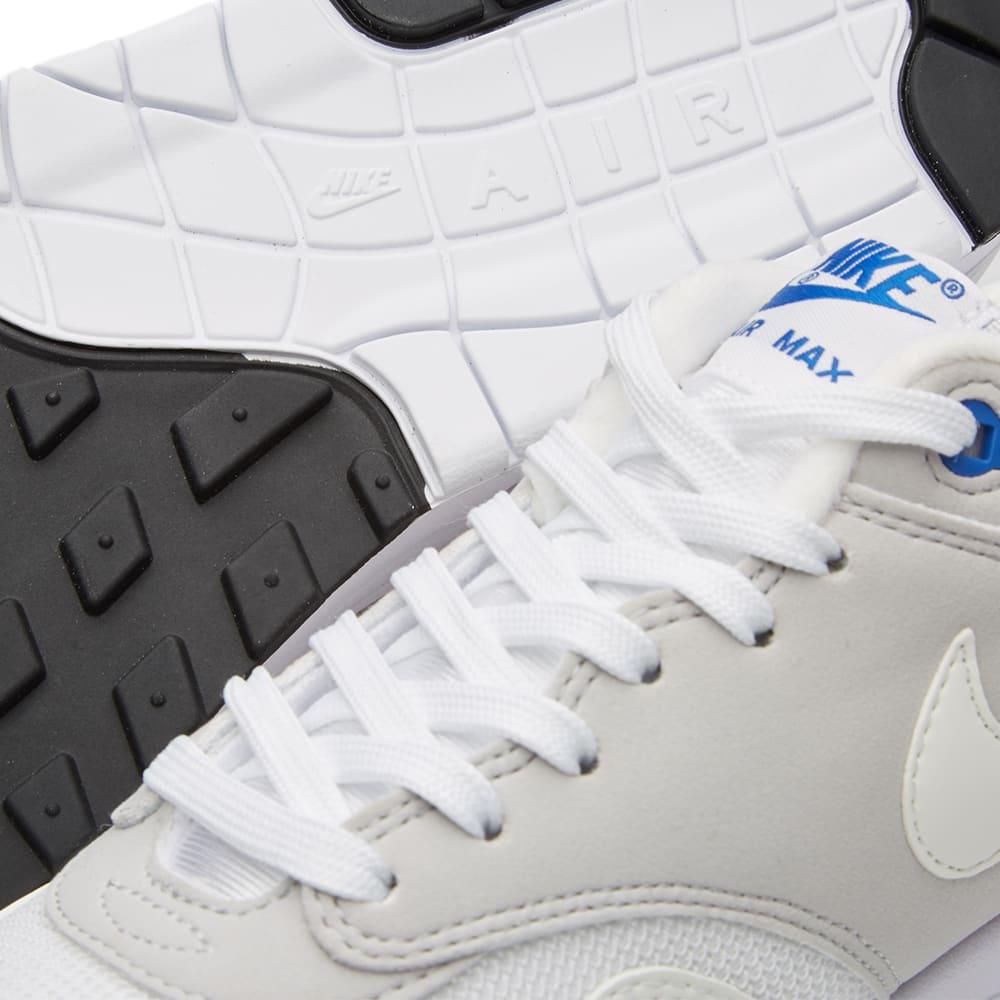 Nike Air Max 1 QS White Varsity Blue Grey Black Shoes