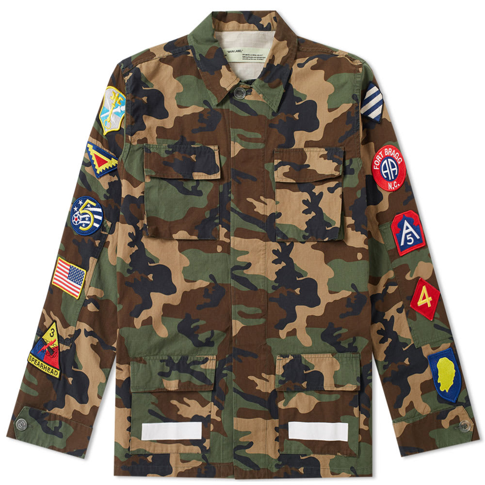 45870f1dd220 Off-White Archive Field Jacket Camouflage   White
