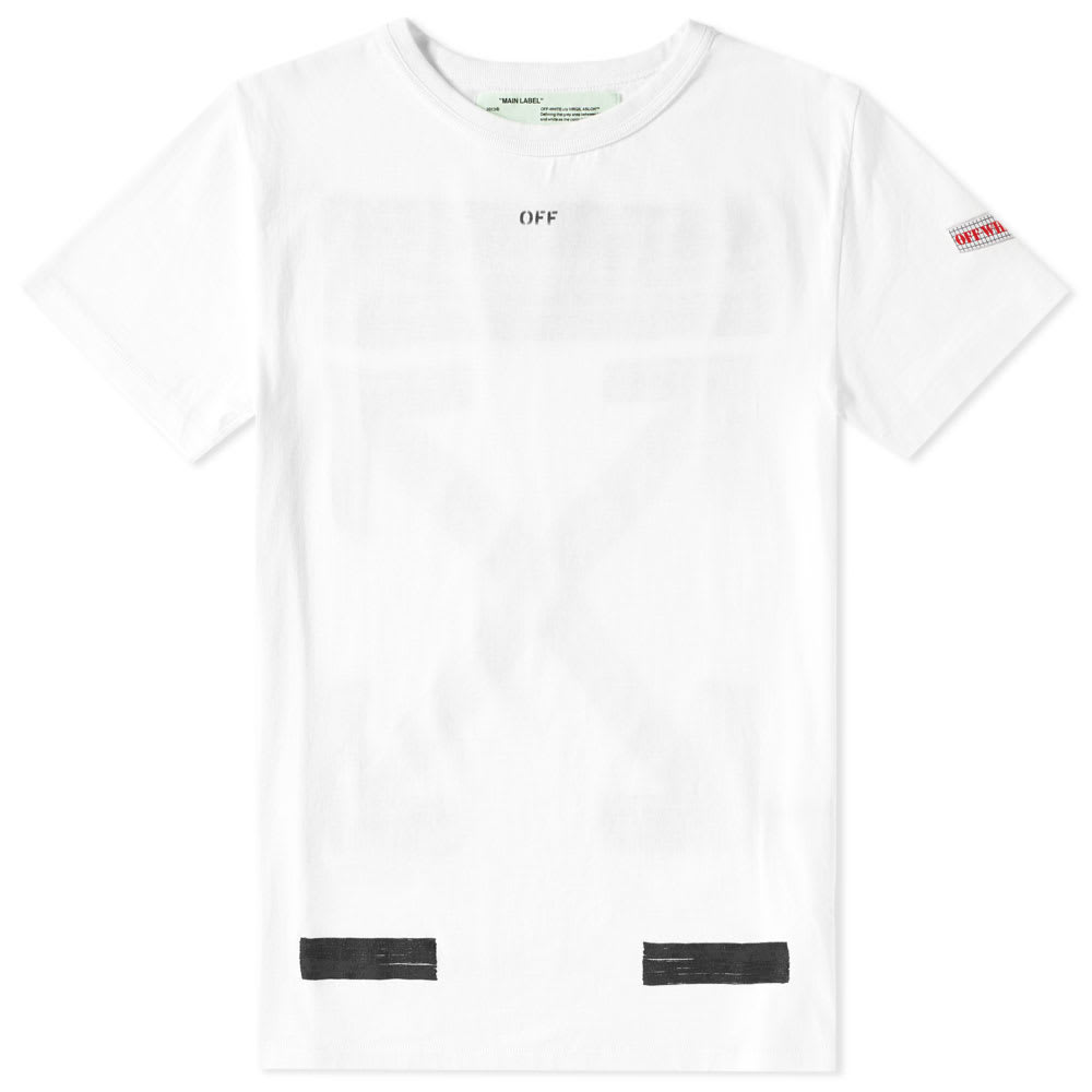 acd54e97 Off-White Brushed Tee White & Black | END.
