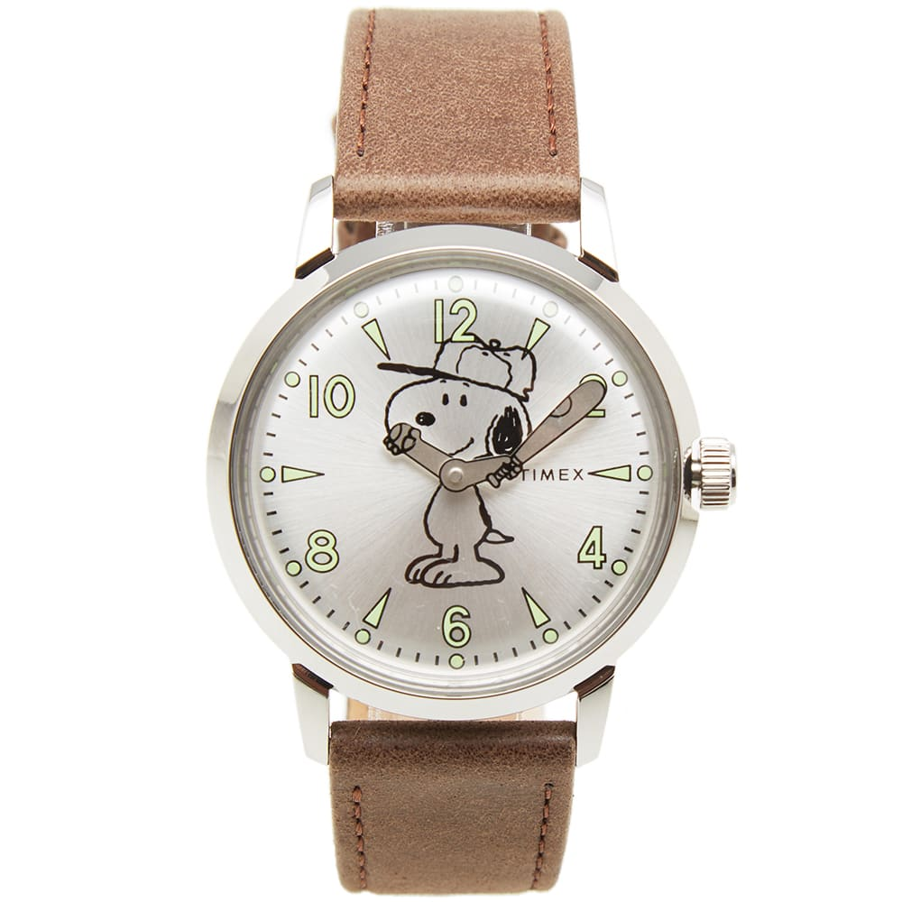 482fc0804 Timex x Peanuts Welton Snoopy Watch Brown & Silver | END.