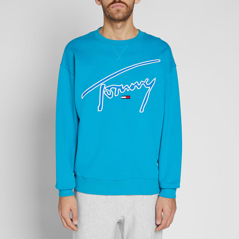1a05832a Tommy Jeans Signature Crew Sweat Enamel Blue | END.