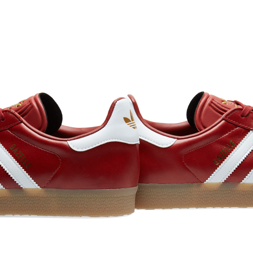 adidas Originals Mystery Red Leather Gazelle Trainers for