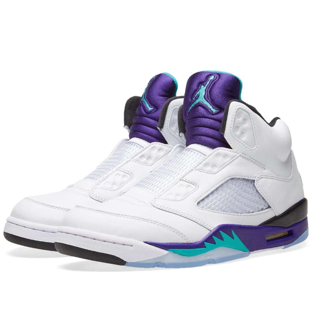 077efd07f13735 Air Jordan 5 NRG  Fresh Prince  White   New Emerald