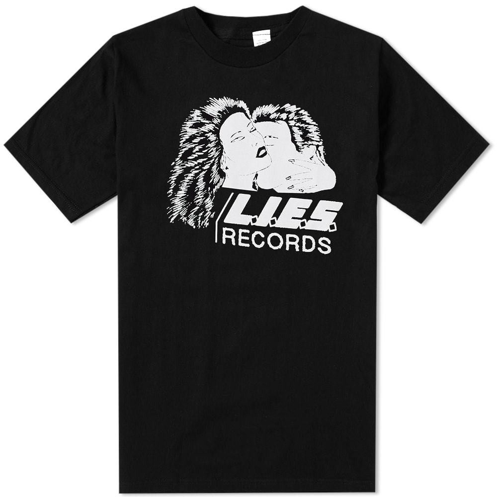 L.I.E.S. RECORDS L.I.E.S. Records No Love Tee in Black