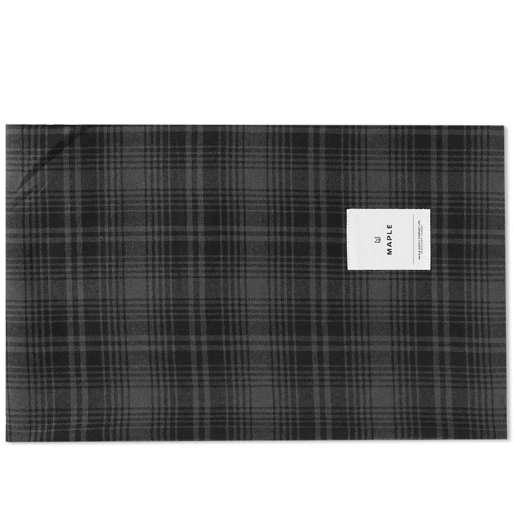 MAPLE Maple Check Stole in Black
