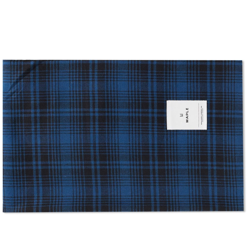 MAPLE Maple Check Stole in Blue
