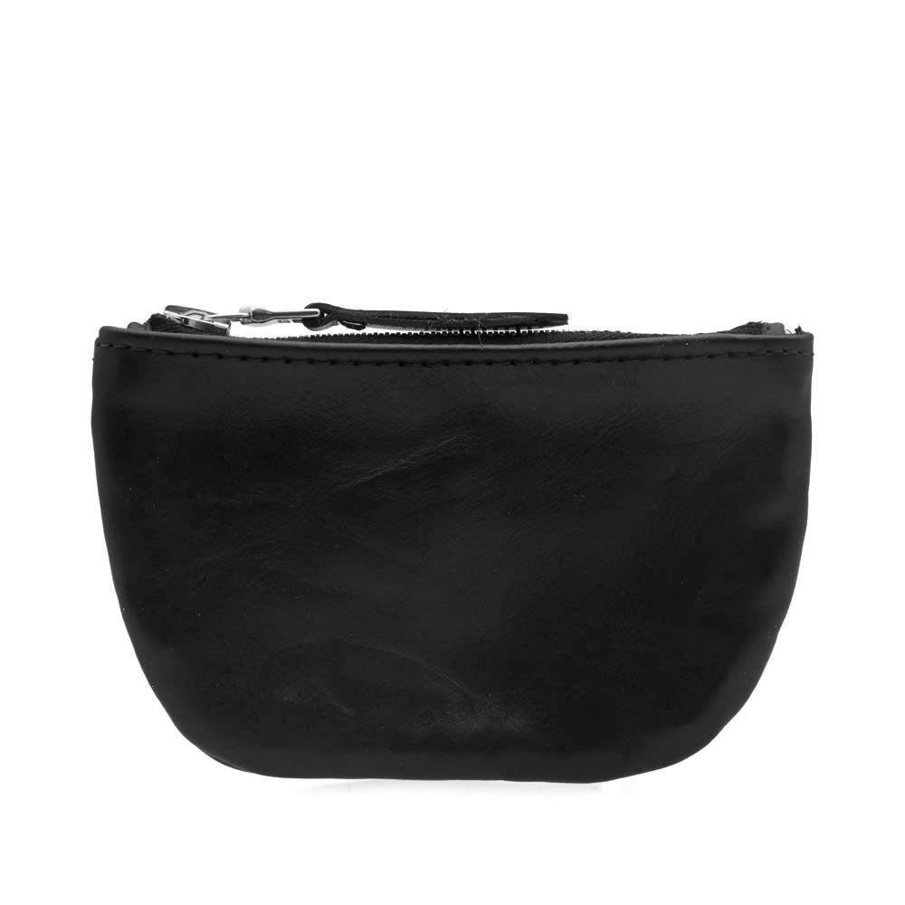 MAPLE Maple Leather Zip Pouch in Black