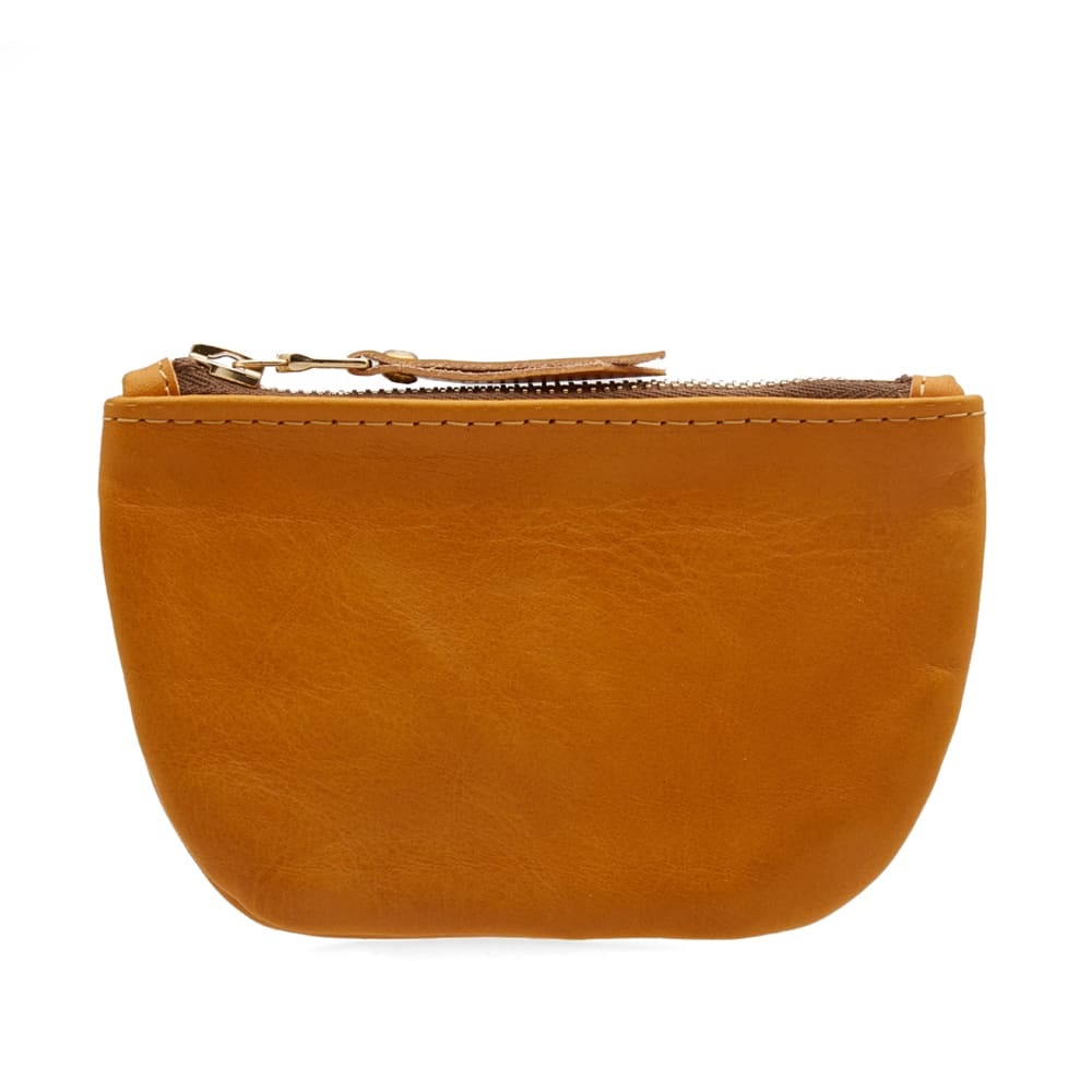 MAPLE Maple Leather Zip Pouch in Brown