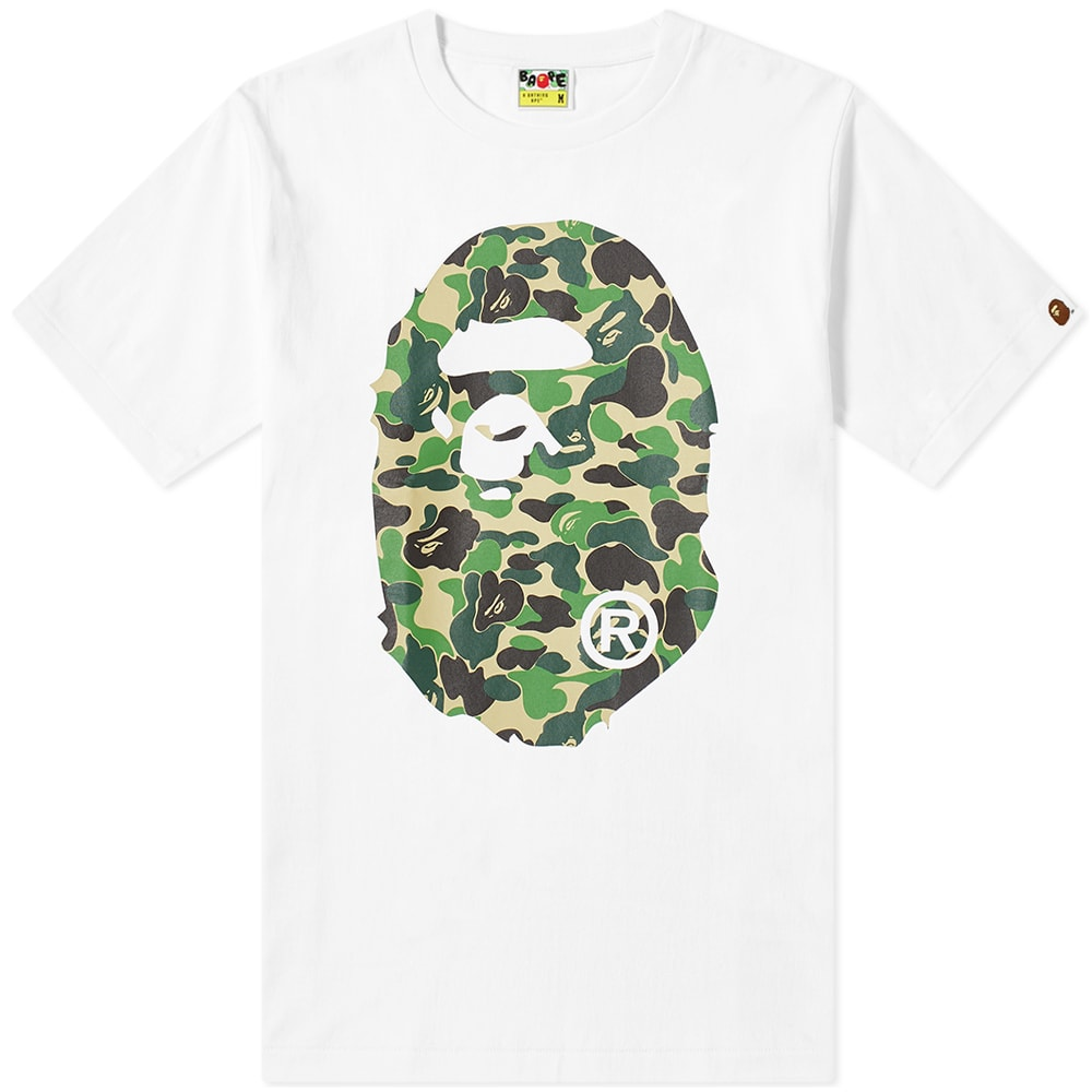 A Bathing Ape Abc Camo Big Ape Head Tee by A Bathing Ape