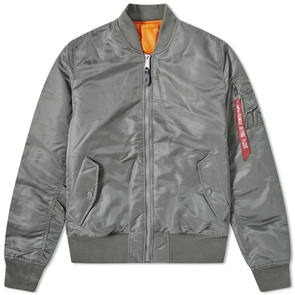Vintage Alpha Industries Bomber Jacket Green