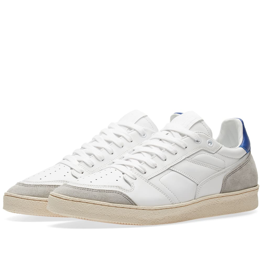 Lucky 9 Nubuck And Full-grain Leather Sneakers - WhiteAmi asuEyEOP