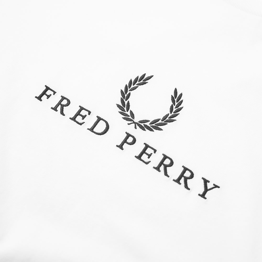 d413bb3c Fred Perry Long Sleeve Embroidered Tee Snow White | END.