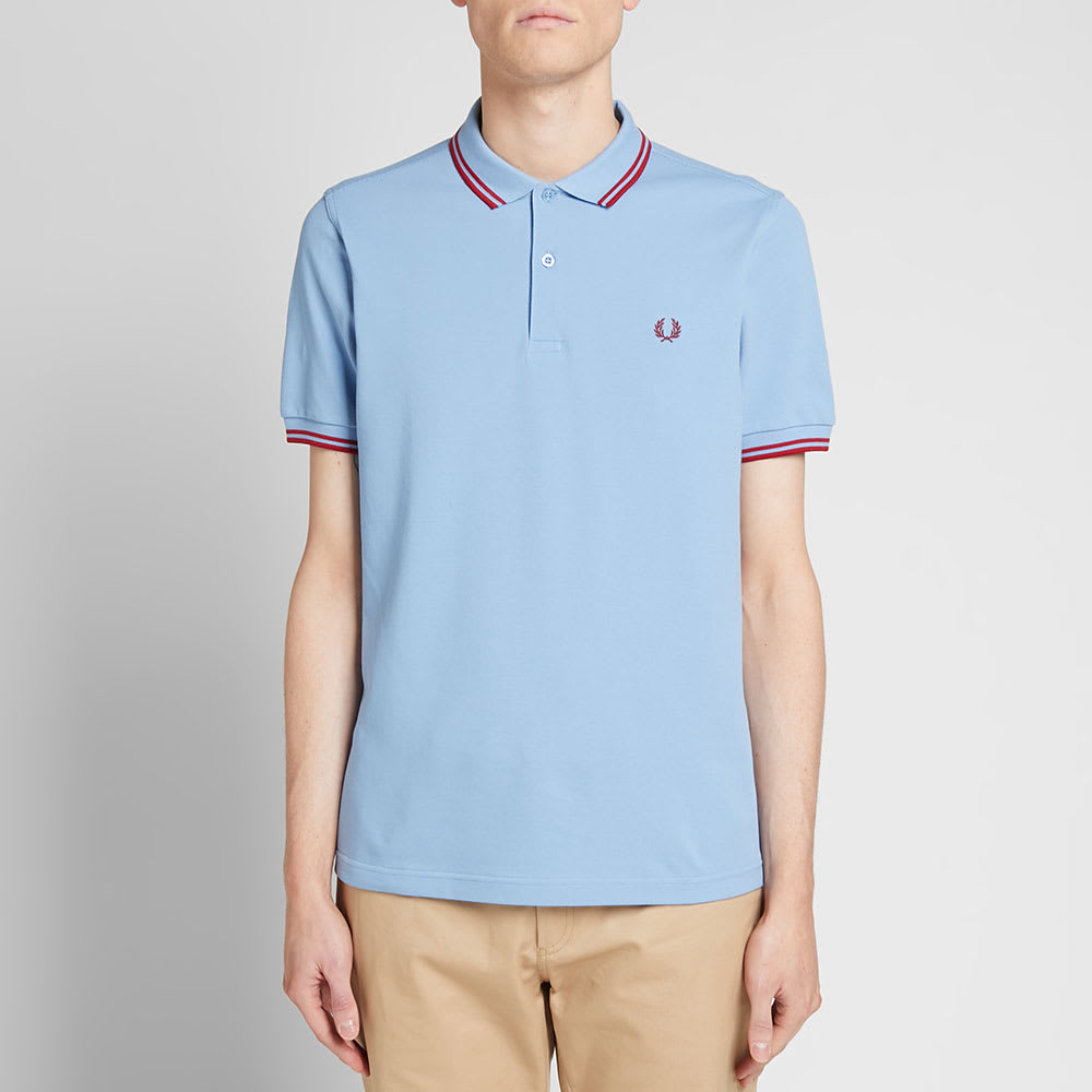 05c5274ae Fred Perry Slim Fit Twin Tipped Polo